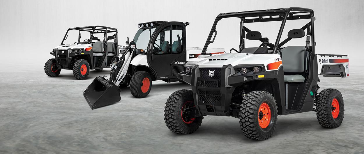 Bobcat Utility Product Lineup Featuring UTVs and Toolcat Utility Work Machine
