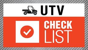 Bobcat utility vehicle checklist image.