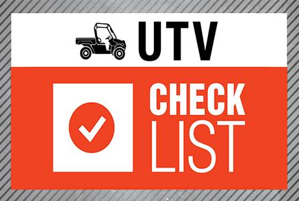 Bobcat utility vehicle checklist image.