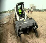 Bobcat Skid Steer Loader with Sand Cleaner