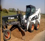 Bobcat Skid Steer Loader with Grader