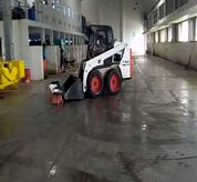 Bobcat Skid Steer loader with whisker push broom